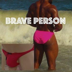Brave Person Low Rise Swim Bikini 30-34 NWT